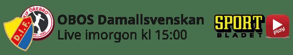 2021-04-16 Damallsvenskan - Djurgården-Örebro - Nedräkning - 2021-04-16 Damallsvenskan Djurgården-Örebro - Nedräkning