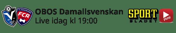 2021-05-14 Damallsvenskan Växjö-Rosengård - Aktuell dag - 2021-05-14 Damallsvenskan Växjö-Rosengård - aktuell dag