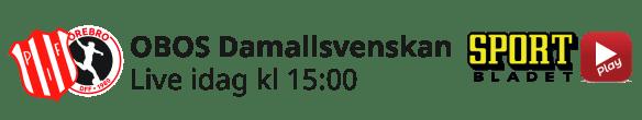 2021-05-16 Damallsvenskan Piteå - Örebro - Aktuell dag - 2021-05-16 Damallsvenskan Piteå - Örebro - Aktuell dag