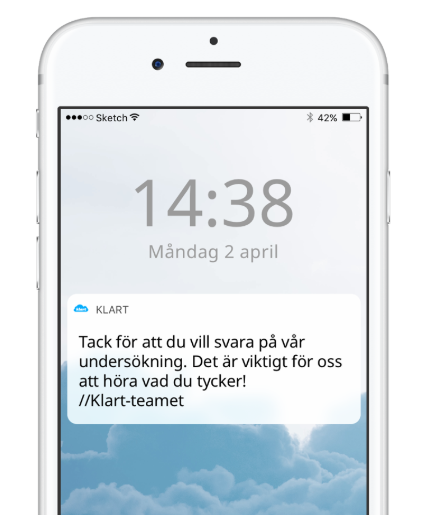 bild av iphone med pushnotis