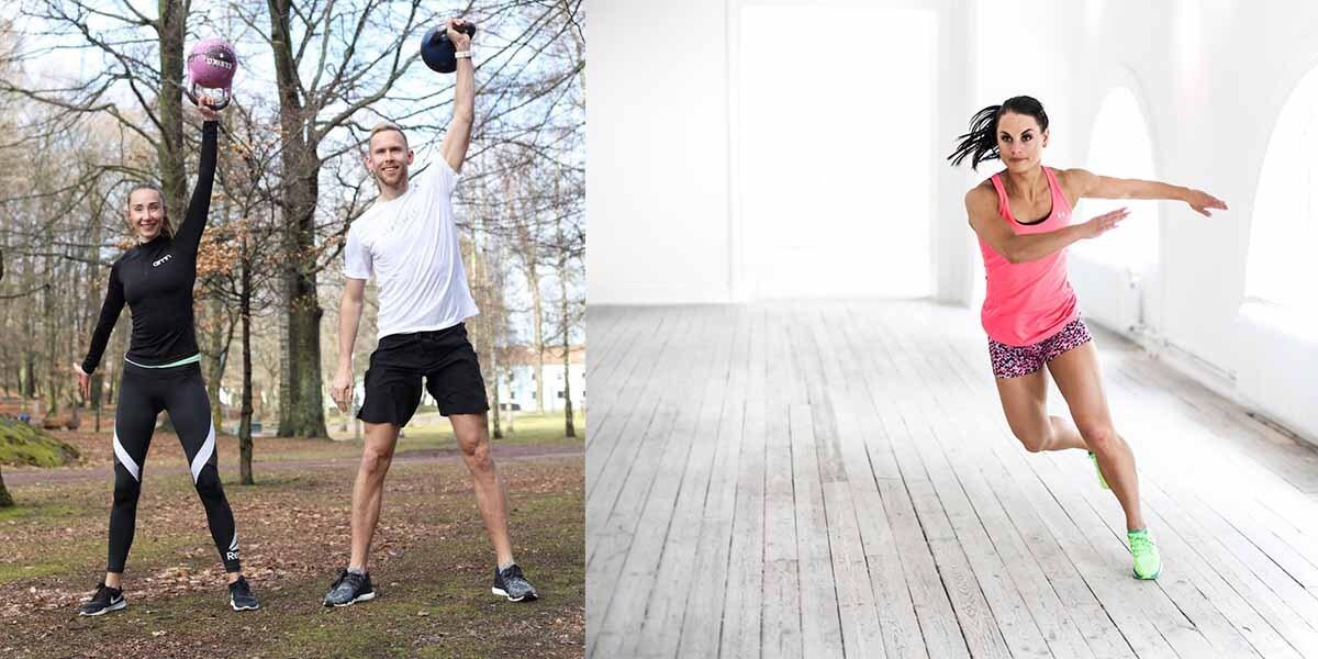 Amanda Lundgren och Niklas Bohlin arbetar som gruppträningskoordinatorer på Nordic Wellness.
